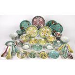 Collection of rice bowls, covers and stands Chinese, 20th Century including rice spoons and side