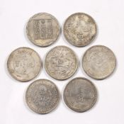 Group of old coins Chinese to include Tai Ching Ti Kuo silver coin, Hu Peh province one tael and