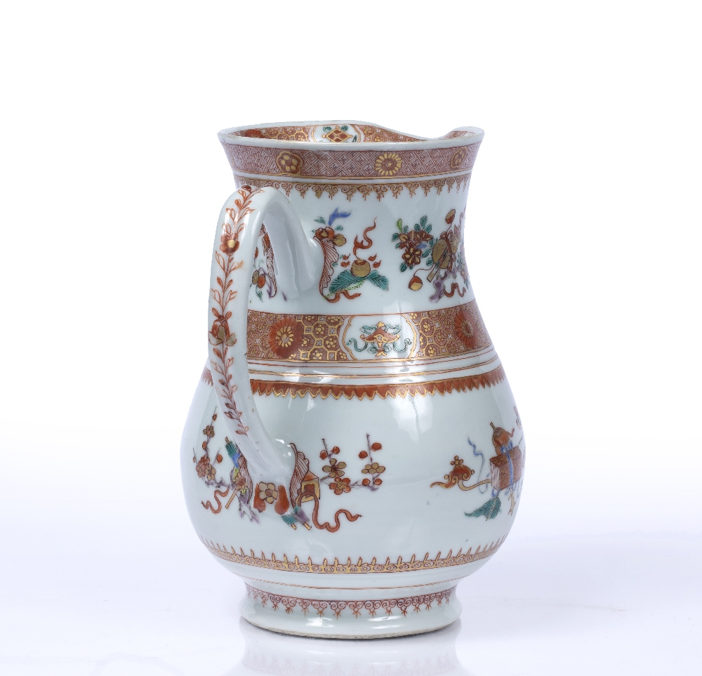 Iron-red jug Chinese, Yongzheng period (1723-1735) based on a European form, the bulbous body - Image 3 of 5