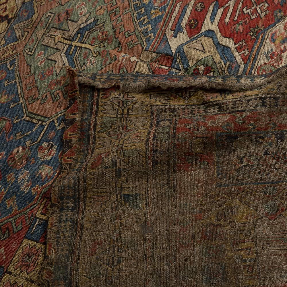 Soumak flat weave polychrome rug Caucasian, 19th Century or earlier of dragon design, with typical - Image 2 of 2