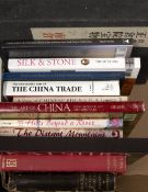 Collection of Asian reference books including 'Treasures of the Shosoin-The South Section', Cohn,