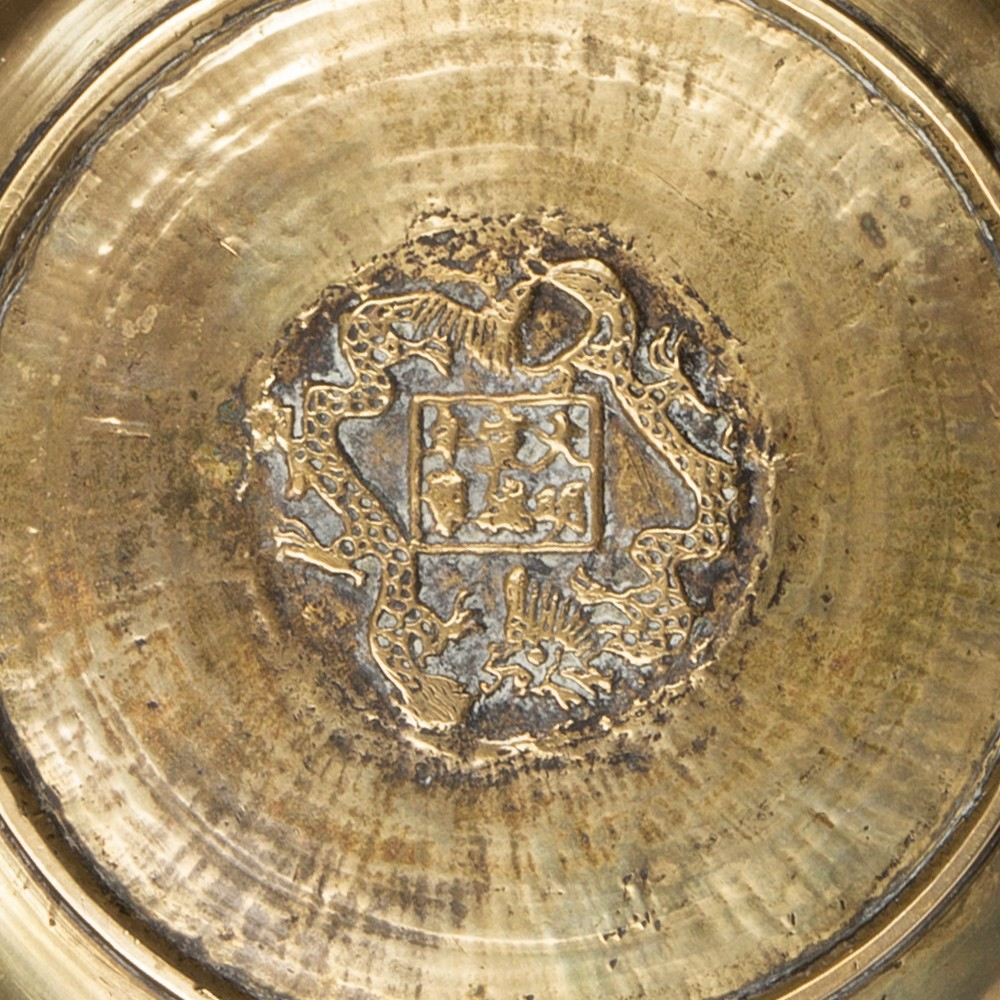 Group of metal pieces Chinese, Japanese and Indian including a Shiva metal dish 31cm, a bronze - Image 3 of 3