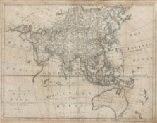Thomas Bowen antiquarian map titled 'map of Asia' dated 1777, 33cm x 42cm
