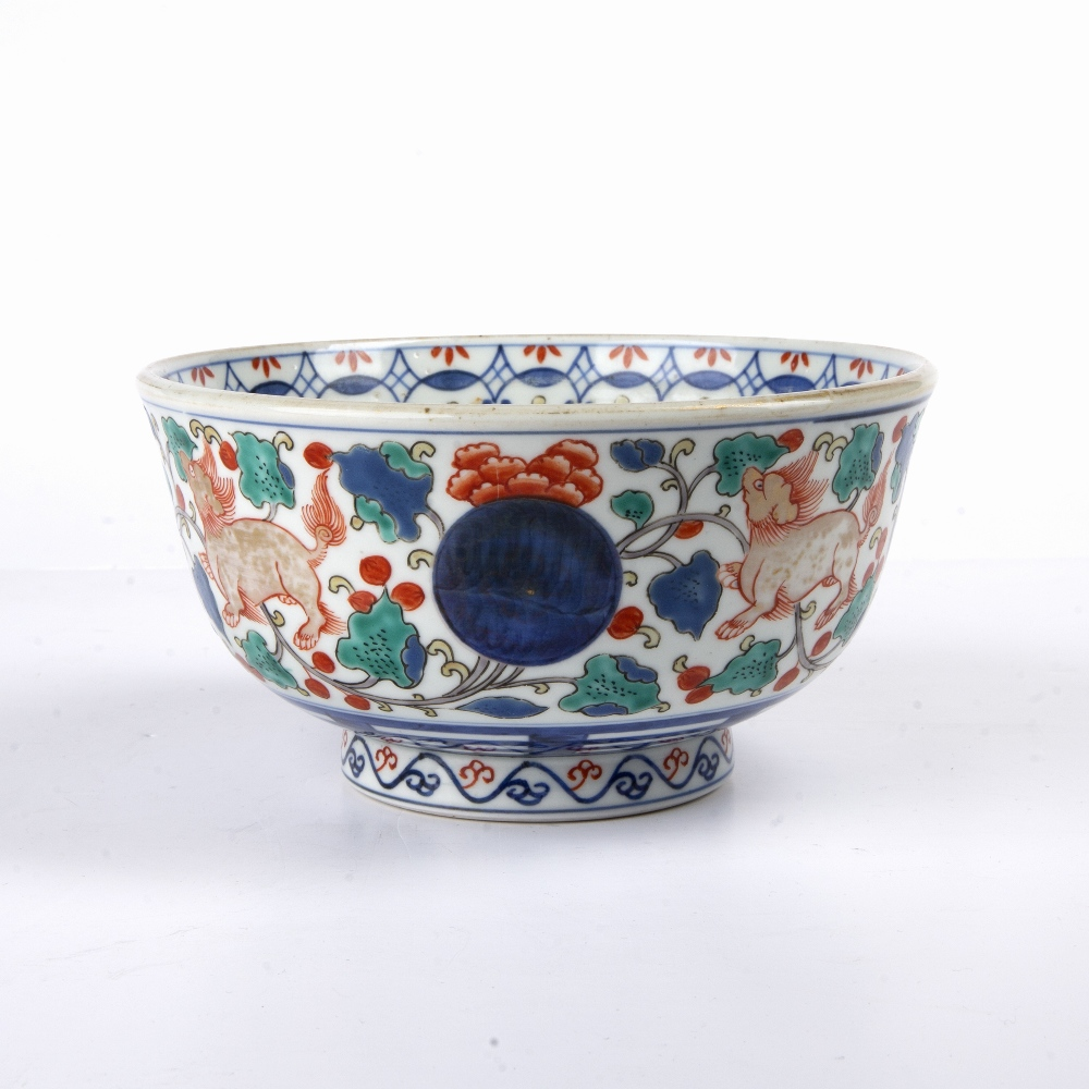 Arita porcelain bowl Japanese, 19th Century painted to the centre with a ceremonial barge, and