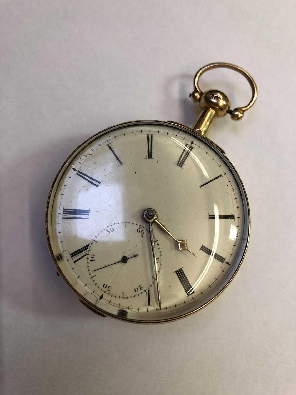 A George III 18ct gold pair case pocket watch, the circular white enamel dial with Roman numerals, - Image 5 of 14