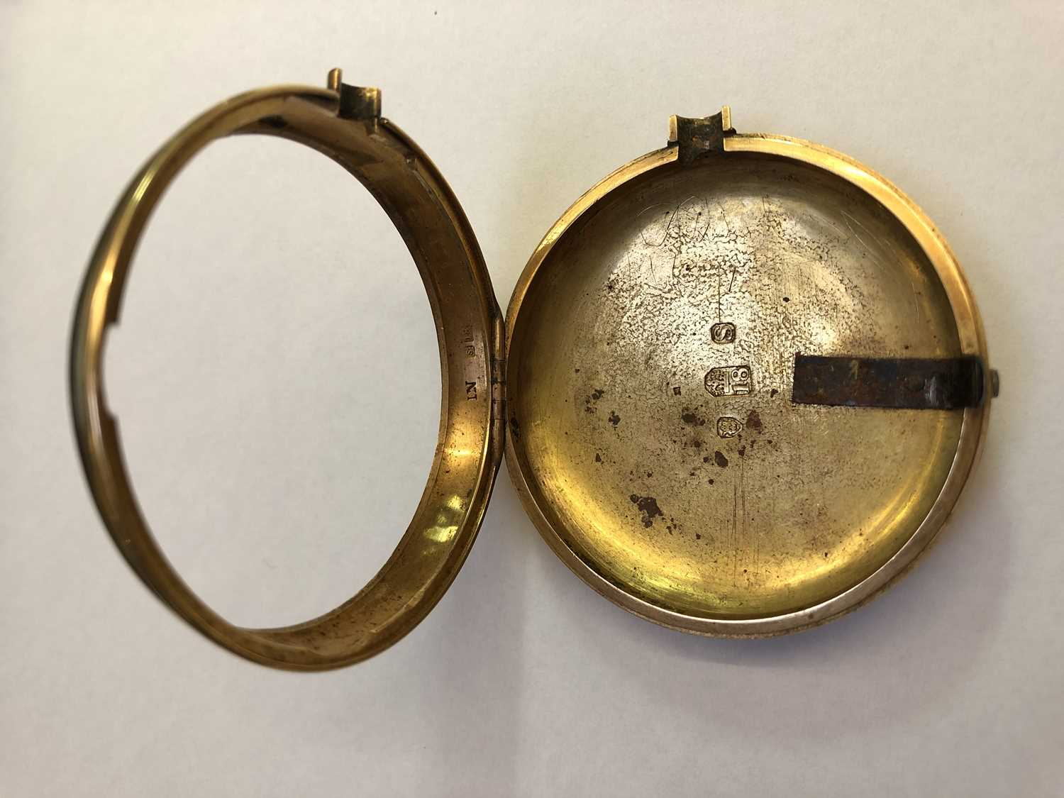 A George III 18ct gold pair case pocket watch, the circular white enamel dial with Roman numerals, - Image 12 of 14
