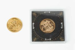 Two Elizabeth II Sovereigns, dated 1974 and 2013 (2)
