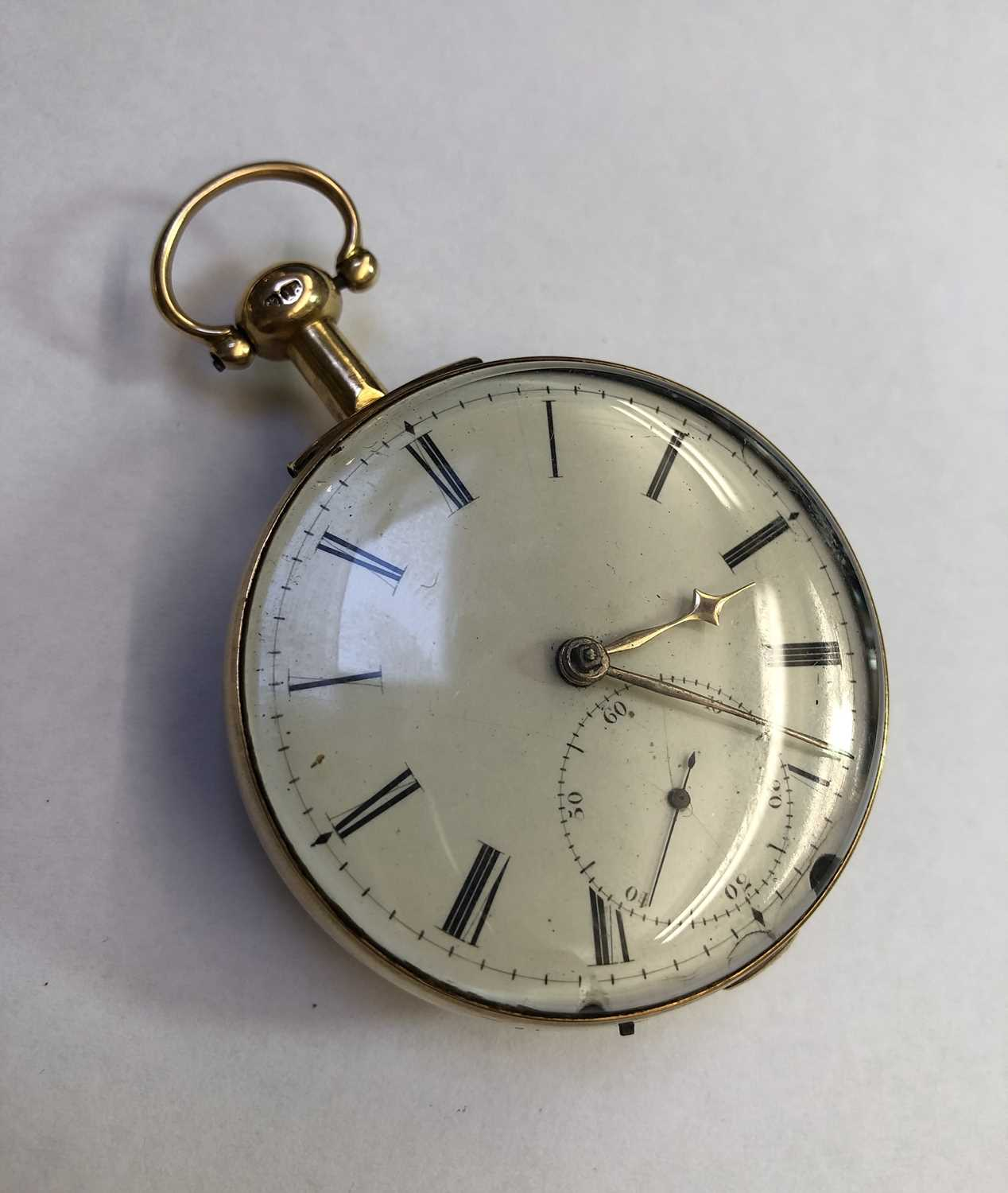 A George III 18ct gold pair case pocket watch, the circular white enamel dial with Roman numerals, - Image 4 of 14