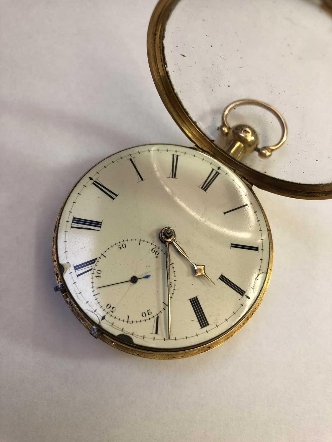 A George III 18ct gold pair case pocket watch, the circular white enamel dial with Roman numerals, - Image 6 of 14
