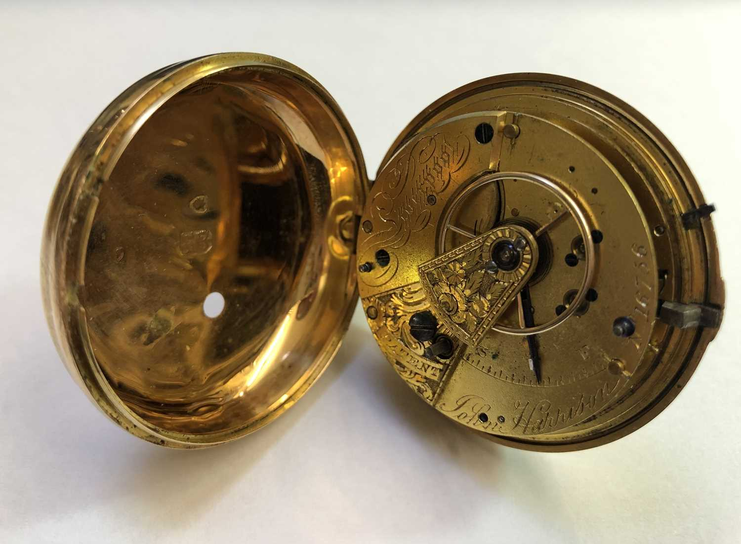 A George III 18ct gold pair case pocket watch, the circular white enamel dial with Roman numerals, - Image 10 of 14
