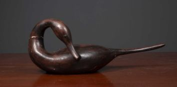 Guy Taplin (b.1939) 'Pintail', carved wood and painted gesso, signed and inscribed beneath with