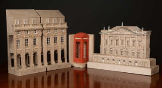 A plaster architectural model by Timothy Richard of Bath, depicting Spencer House, London, one of