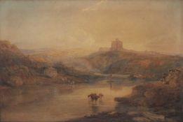 After Joseph Mallord William Turner (1775-1851) 'Norham Castle: Sunrise', watercolour, 65.5cm x 98cm
