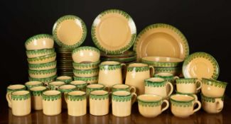 A collection of Lamas Italian pottery tea and dinner wares to include sixteen plates, two shallow