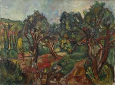 Pichaus Kremegne (1890-1980, Russian/French), The Orchard, oil on canvas, signed lower left53cm x
