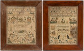 A 19th century needlework sampler by Emma Marie Trorey aged 11 years 1849, 43cm x 33cm, framed and