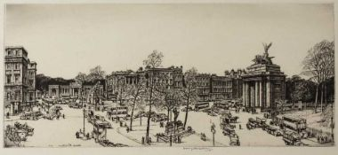 Sir Henry Rushbury R.A. (1889-1968) 'Marble Arch, London', etching, pencil signed in the margin,