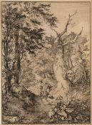 John Crome Sandy Road through Woodland, etching, dated 1813 in the plate but from an 1830's