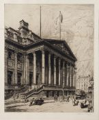 Leonard Brewer (1875-1935) The Manchester Royal Exchange, signed and inscribed in pencil to the