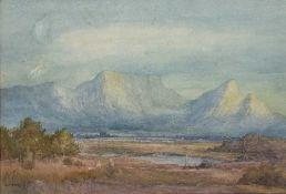 A* Menzies The Cape of Good Hope 'Constontia', signed, w/c 23.5 x 34cm