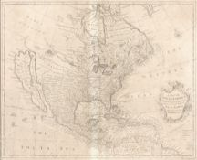 R.W. Seale 'A map of North America', and 'A map of South America', engravings, two, each with