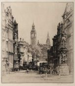 Sidney Robert Jones (1888-1966) 'Whitehall', pencil signed in the margin, etching, 25.5 x 22.5cm