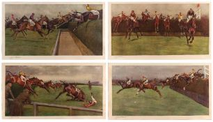 After Cecil Aldin The Grand National: 'Valentine's Brook', 'The First Open Ditch', 'The Canal