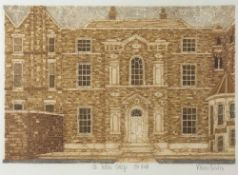 Valerie Thornton (1931-1991) 'St Hilda's College Old Hall', etching with aquatint in colours, pencil