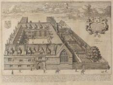 David Loggan Jesus College, engraving, 30 x 41cm