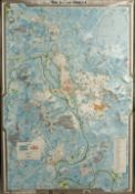 An Oxford Plastic Relief Map, Series 6 Map, titled 'The Oxford District', 97 x 67cm