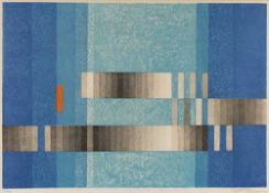 Julie Meissner 'Roter Akzont', lithograph, pencil signed in the margin, numbered 36/100, 49 x 71cm *