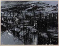 David Blackburn (1939-2016) Industrial Landscape, 1979, pastel, 46 x 60cm The work represents a view