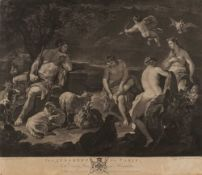 Richard Earlom after Luca Giordano The Judgement of Paris, mezzotint published by John Boydell c.