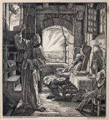 J Jungtow after Alfred Rethel Death as a friend, woodcut, 26 x 23cm; and companion, a pair (2)