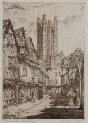 Wm P Robins (1882-1959) 'Butchery Lane, Canterbury' and 'Mercury Lane, Canterbury', a pair,