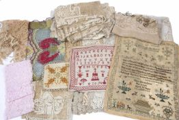 Eliza Breakspear, Aged 10 years - a needlework sampler dated 1825, 46 x 36cm, another dated 1874,