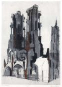 Bernard Kay (1927-2021) Laon artist's proof, signed and titled in pencil (in the margin) etching and