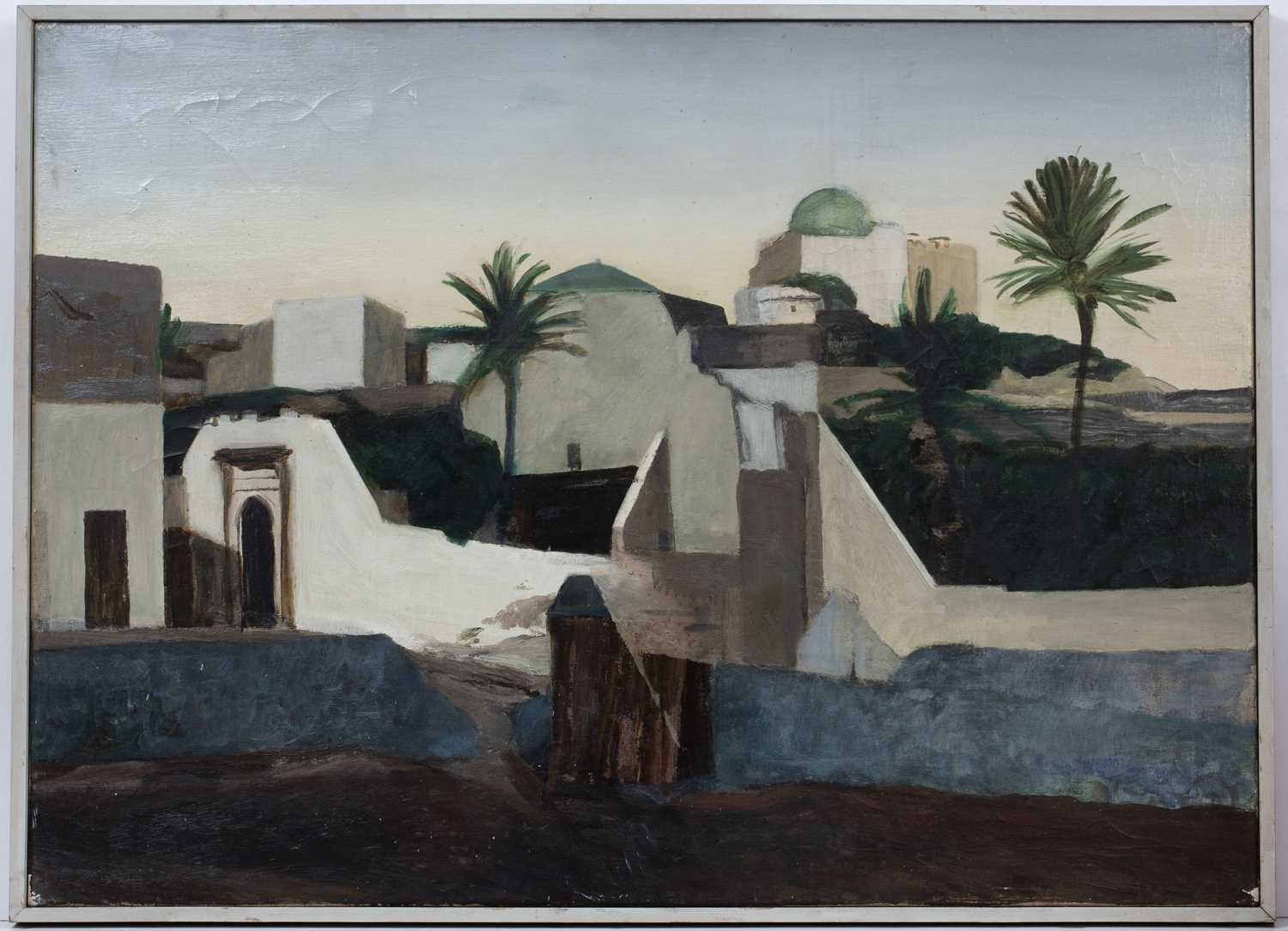 Bernard Kay (1927-2021) Five landscape and village studies all unsigned oil on canvas largest 71 x - Image 7 of 13