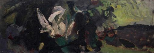 Bernard Kay (1927-2021) Plant, 1954 signed and dated (lower right), titled (to reverse) oil on
