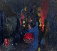 Bernard Kay (1927-2021) Four abstract oil studies one signed and dated 1953 largest 54 x 77cm (4).