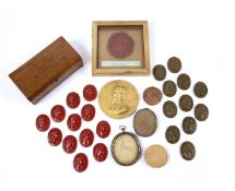 A red wax seal 'The Seal of John Holland, Duke of Exeter, Lord High Admiral of England, Ireland