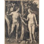 Dürer, Albrecht - 'Adam and Eve being tempted by the Serpent', monochrome engraving, 24 x 19cm, in
