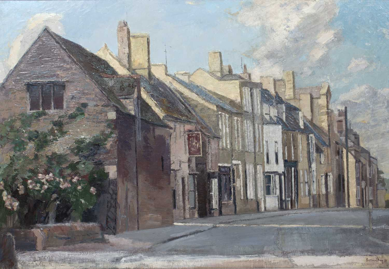 Bernard Kay (1927-2021) Oundle, West Street, 1985 signed and dated (lower right), titled (to