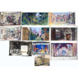 Bernard Kay (1927-2021) A folio of 26 drawings and watercolours titled 'Theatre Work', September-