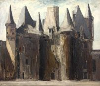 Bernard Kay (1927-2021) French Cathedral, 1964 signed and dated (lower right) oil on board 92 x