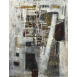 Bernard Kay (1927-2021) Monument, 1957 signed and dated (lower right), titled (to reverse) oil on