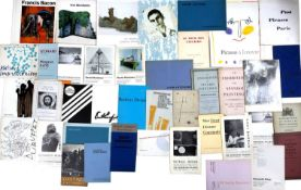 A Large collection of 20th Century Artist's exhibition catalogues and flyers predominantly 1950s/