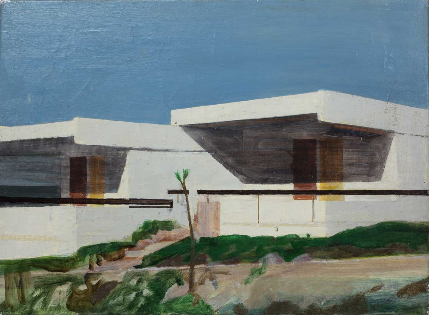 Bernard Kay (1927-2021) Five landscape and village studies all unsigned oil on canvas largest 71 x - Image 4 of 13
