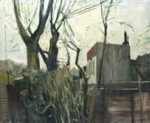 Bernard Kay (1927-2021) Factory and Trees signed and dated (lower right) oil on board 99 x 121cm.