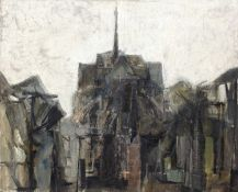 Bernard Kay (1927-2021) Notre Dame, Paris, 1955 signed and dated (lower right) oil on canvas 65 x